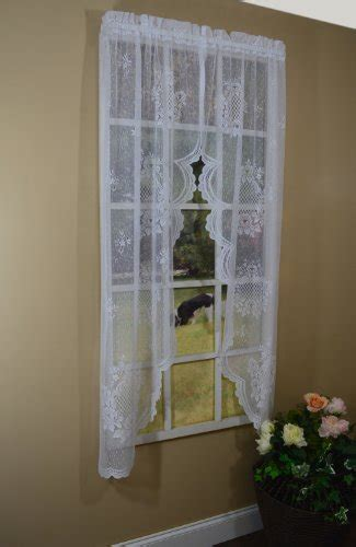 63 inch swag curtains curtain chic cameo rose swag 63 inch white fullshades