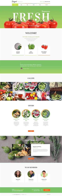 themeforest organic food origano organic food eco farm wordpress theme by