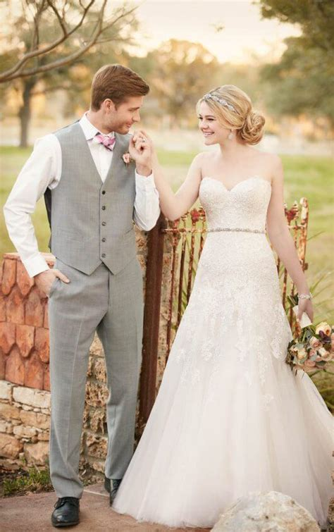 845 Line Dress wedding dress with sweetheart bodice and organza skirt
