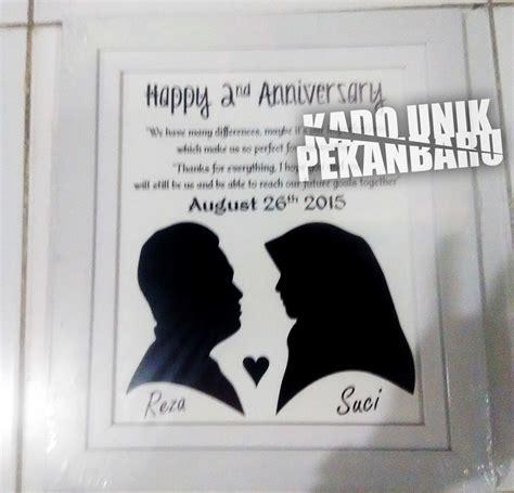 Siluet Ukir Kado Satu Wajah siluet foto kado unik pekanbaru
