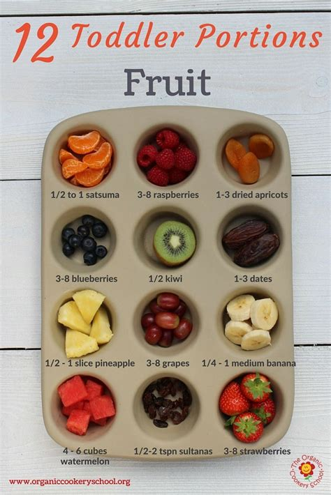 1 fruit portion how much should your toddler be eat a rainbow