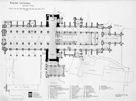 medieval cathedral floor plan english medieval cathedrals exeter floor plan