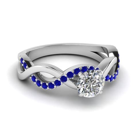 Blue Sapphire 14 30 Ct inifinity twist ring 0 50 ct with sapphire