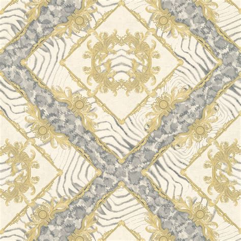 grey versace wallpaper versace zebra ornament grey metallic wallpaper 34904 2