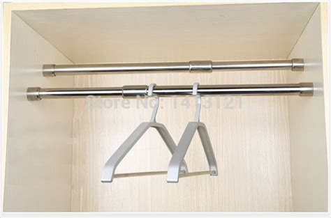 Clothes Pole For Wardrobe - free shipping 59cm hanger furniture hardware stainless