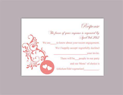 diy wedding rsvp card templates diy wedding rsvp template editable word file instant