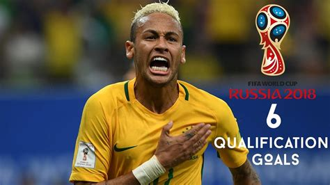 neymar jr all 6 goals in world cup qualification 2018