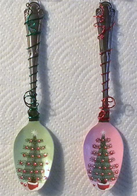 painted spoon ornaments audiz creations