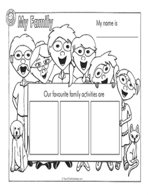 worksheets for preschool about family teach this worksheets create and customise your own