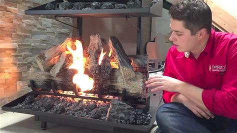 Starting Fireplace by Napoleon Reversible Gas Log Set Fireplace Burn