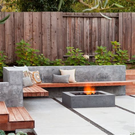 Home Dzine Garden Ideas Use Concrete For Durable Outdoor Outdoor Cement Furniture