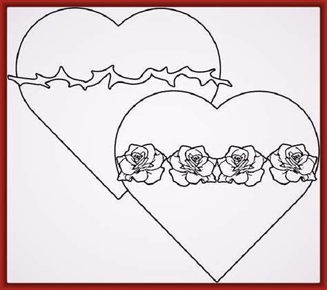 imagenes de corazones unidos para colorear dibujo del corazon para colorear con sus partes archivos