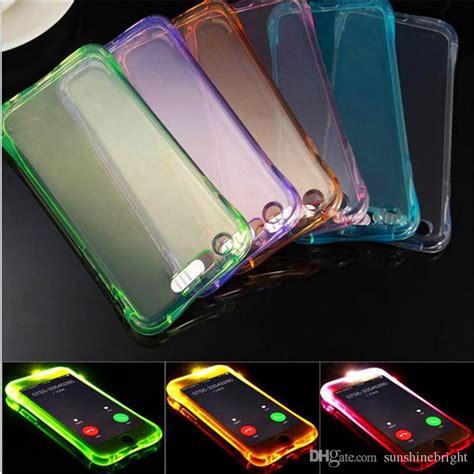 call lightning flash led light  phone case transparent soft shockproof cover  iphone se
