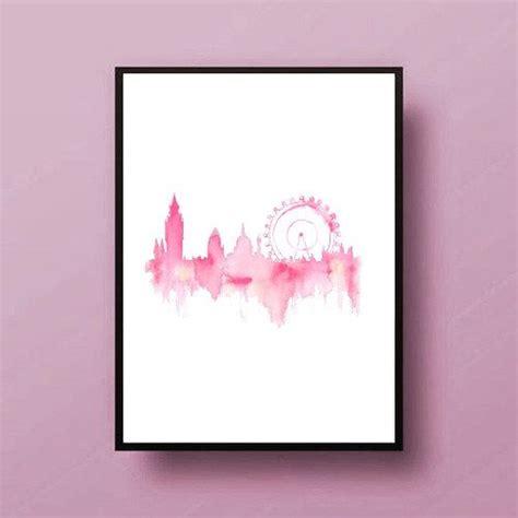 printable wall art tumblr pink london city painting map art print room decor