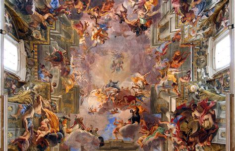 Trompe L Oeil Wallpaper File Andrea Pozzo Apoteose De Santo Inacio Cropped Jpg