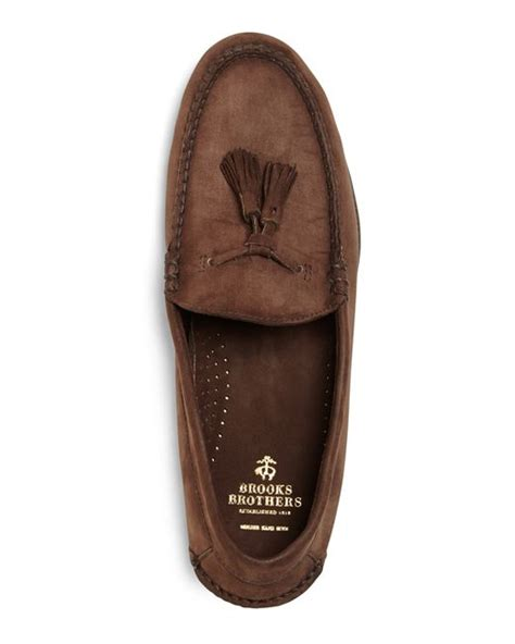 brothers tassel loafer brothers unconstructed tassel loafers in brown for