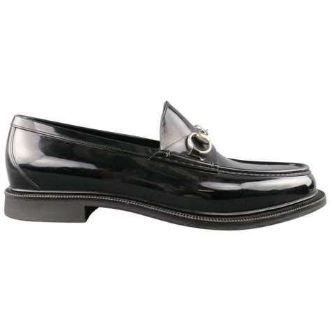 gucci rubber horsebit loafer s gucci size 10 black rubber silver horsebit loafers