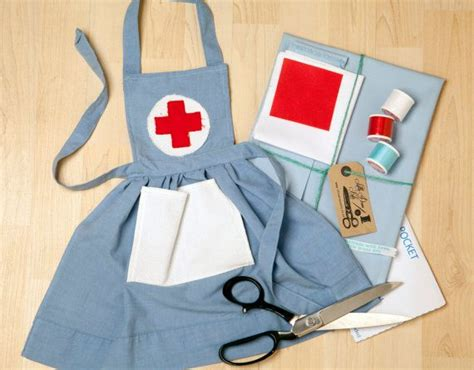 sewing apron kit cute nurses apron sewing kit to make for your by