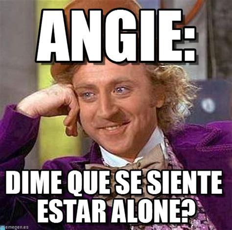 Angie Meme - angie creepy condescending wonka meme on memegen