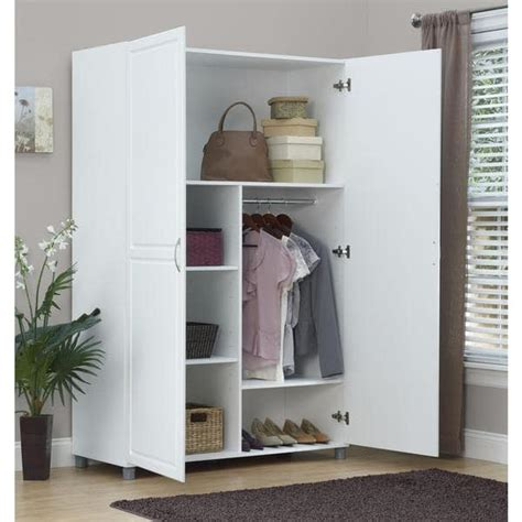 System Build Cabinets by Altra Systembuild White Kendall 48 Inch Wardrobe Storage