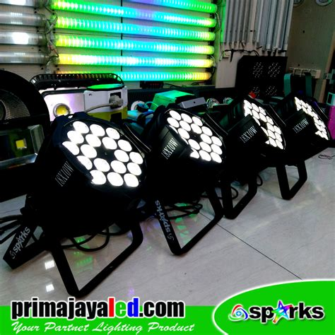 Paket 6 Set Par 18 X 10 Watt paket 4 par led 18 x 10 watt prima jaya led