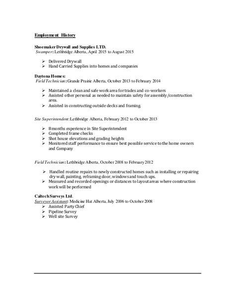 brad surveyor resume 2016 newly revised