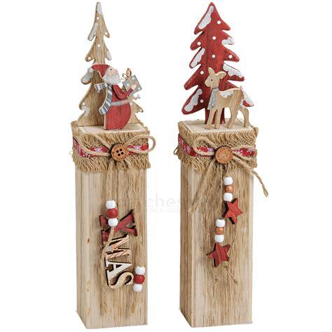 Weihnachtsdeko Fenster Holz by Holz Weihnachtsdeko 2er Set Nikolaus Reh Mit Baum Auf