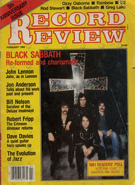 Records Review Black Sabbath Record Review February 1982 Black Sabbath On Front Cover