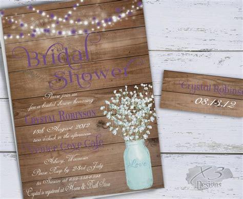 printable bridal shower invitations rustic mason jar bridal shower invitation rustic wedding shower