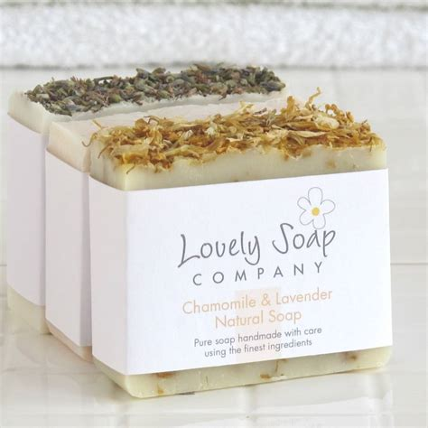 Handcrafted Soap Companies - lavender handmade soaps gift selection by lovely soap