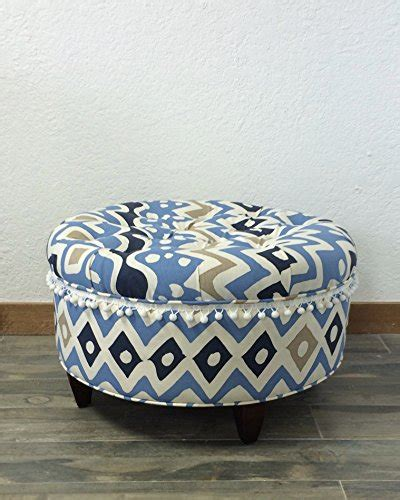 blue upholstered ottoman top 10 best round fabric ottomans in 2018 reviews