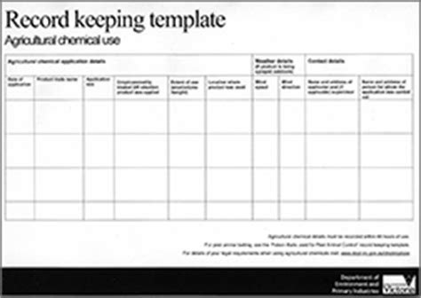 record keeping templates keeping chemical use records record keeping