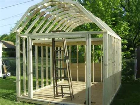 building  gambrel shed youtube
