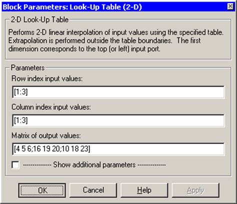 Matlab Lookup Table by Look Up Table 2 D Simulink Reference