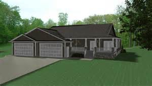 home plans with 3 car garage 3 car garage on house plans by e designs 5