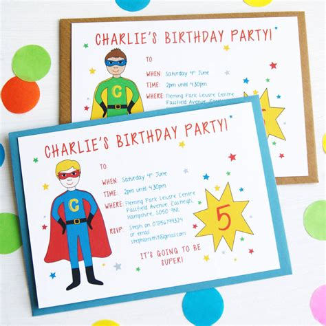 birthday invitations personalised birthday invitations by superfumi notonthehighstreet