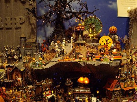 halloween village display dept 56 halloween display
