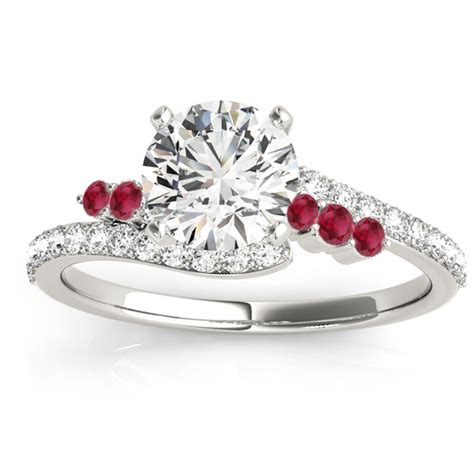 Ruby 7 45ct ruby bypass engagement ring palladium 0 45ct