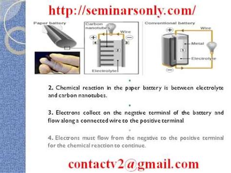 Paper Battery In The Works by Paper Battery Seminar Report Seminar Topics Ppt