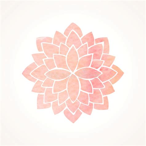 watercolor pink flower pattern silhouette of lotus