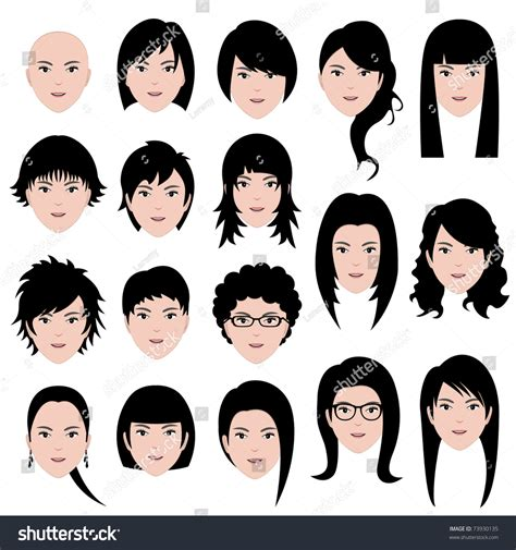 haurcut for wide head female with picture woman female human face head hair hairstyle bald people