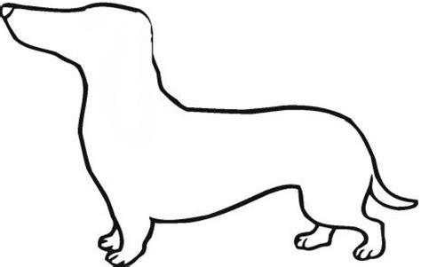 puppy template cake templates dachshund outline coloring page