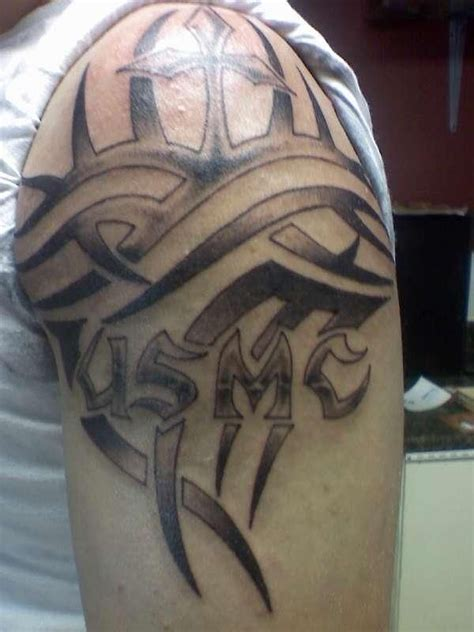 usmc tribal tattoos 48 best marine images on