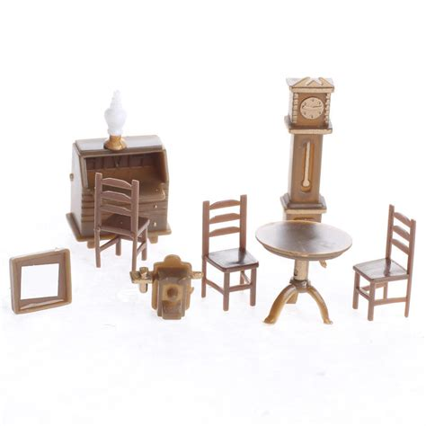 Miniature Doll Furniture package of 9 pieces 3 to 13 mm 4 to 15 mm wide 8 to