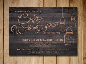 couples bridal shower invitations templates couples shower invitation jar wedding shower