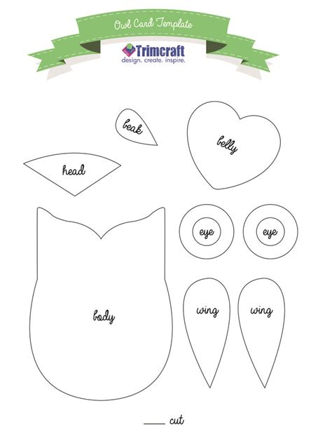 Printable Owl Card Template by 64 Best Templates Birds And Bird Houses Images On