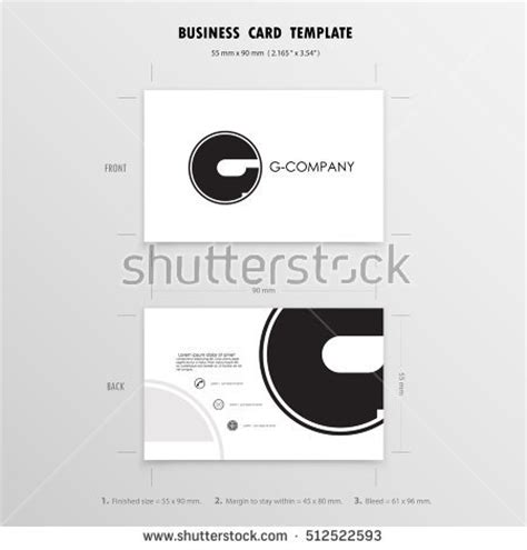 business card template size in mm business name card templatevector illustration stock