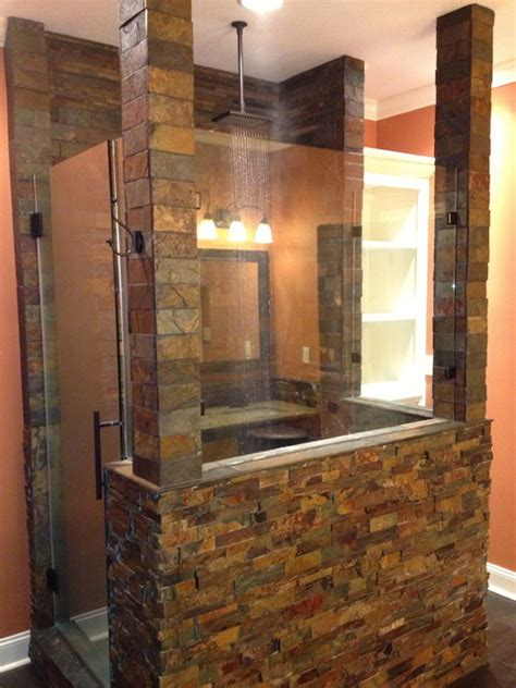 cave bathroom ideas cave shower remodel