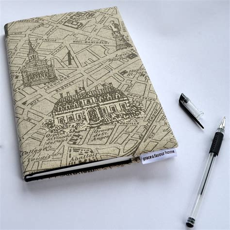 sketchbook a5 a5 map fabric notebook or sketchbook by grace