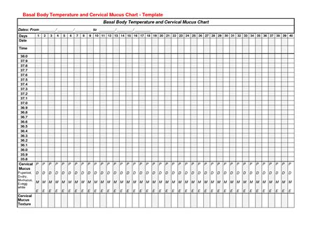 fertility chart template www imgkid com the image kid